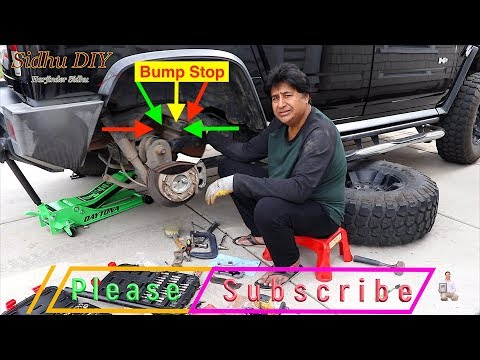 How To Install Hummer H2 Rear Suspension Bumper | Replace F-Spring 15057984 For HUMMER H2 SUT