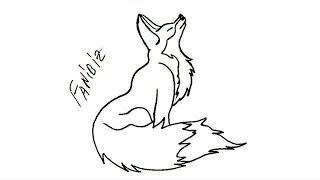 как нарисовать лису. Рисуем лису how to draw a fox