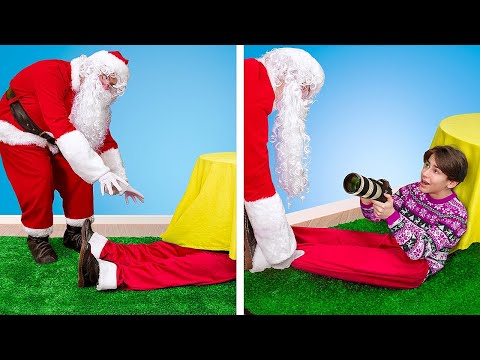 How to Catch Santa / 17 Funny Situations and Christmas Pranks