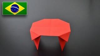 Origami: Mesa - Instruções em Português BR