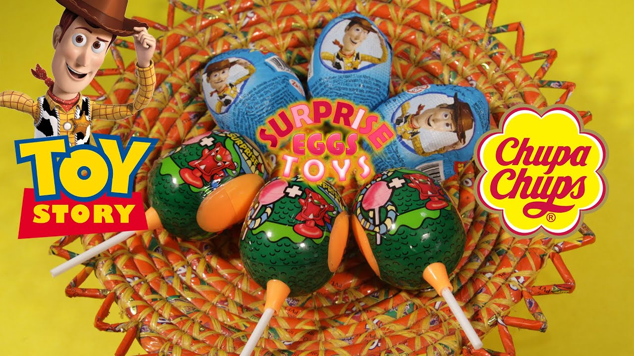 Disney Toy Story and Chupa Chups Surprise Eggs - YouTube