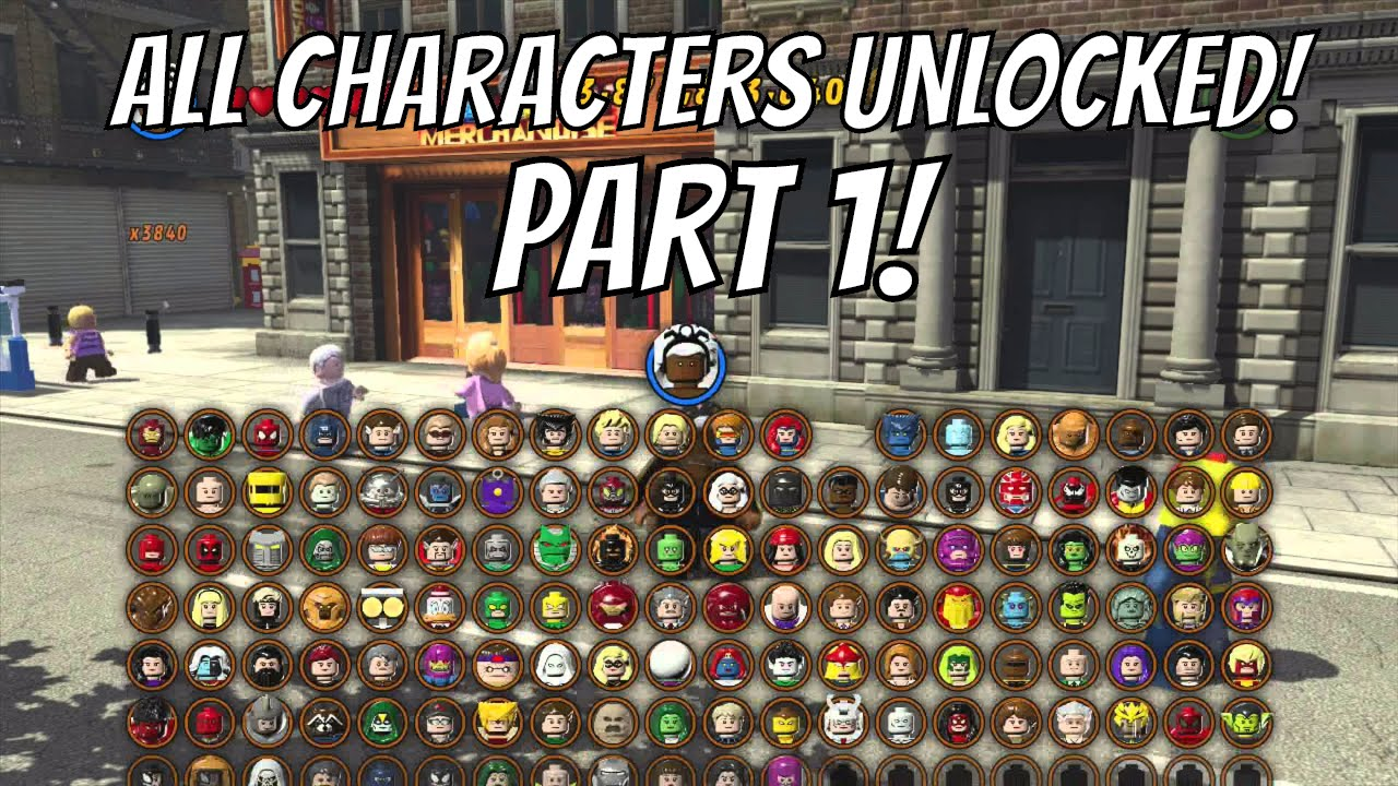 LEGO Marvel Superheroes - A Look at Every Character With Commentary (Part  1/4)