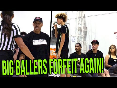Lavar Ball EJECTED & REFUSES TO LEAVE! Big Ballers FORFEIT a GOOD Game VS Team BBC!