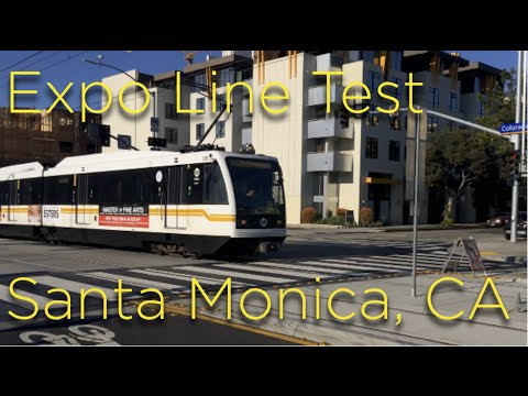 Metro Los Angeles Expo Line Testing in Santa Monica, CA Nov. 28th