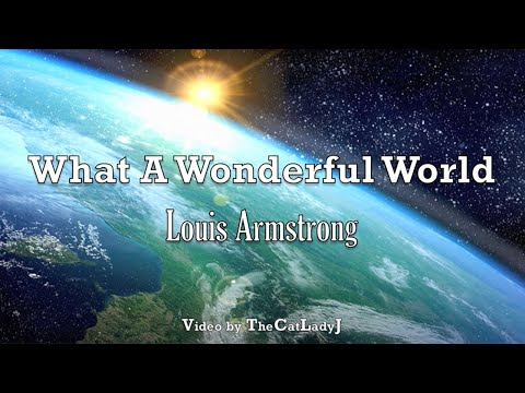 What A Wonderful World  Louis Armstrong  with Lyrics