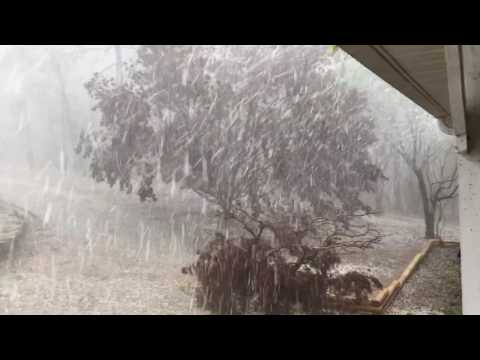 Thumbnail: Experience an amazing hail storm in Springville, Alabama