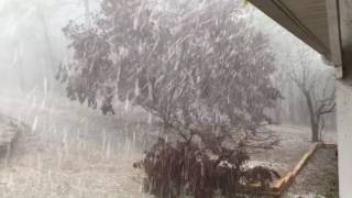 Experience an amazing hail storm in Springville, Alabama