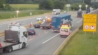 Accident A36 Montbeliard Près Des Pompiers