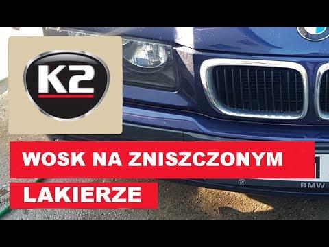 Wosk K2 Proton na zniszczonym lakierze - BMW E36, nie myte od 5 lat!