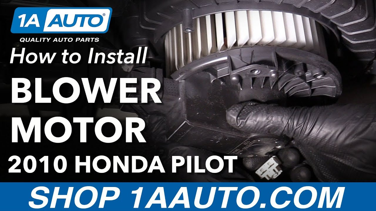 How to Replace Front Heater Blower Motor 09-15 Honda Pilot