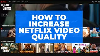 Quick tutorial to help you guys resolve if are having low quality videos issues while trying stream from netflix. netflix works on google chrome...