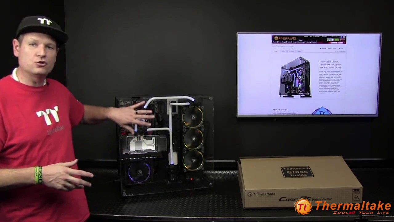 Core P5 Tempered Glass Upgrade Kit Video Youtube Thermaltake P90 Global