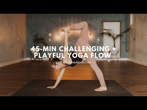 45-Minute Intermediate + Playful Vinyasa Yoga Class with Nicole Wild