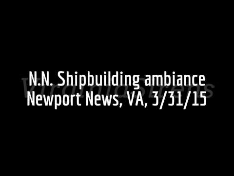 Newport News Shipbuilding siren ambiance, Newport News, VA, 3/31/15 (audio only)