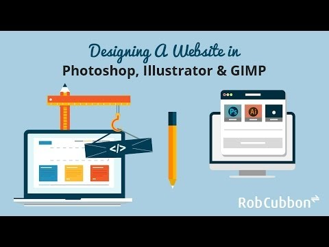 Designing A Website In Photoshop Illustrator Gimp Youtube