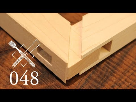 Joint Venture Ep. 48: Through mortise and tenon with mitered faces (Japanese Joinery)