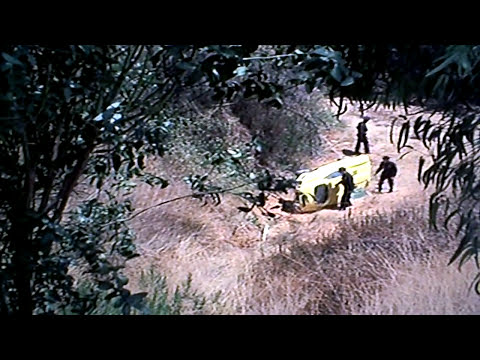 Columbo falls from hill.
