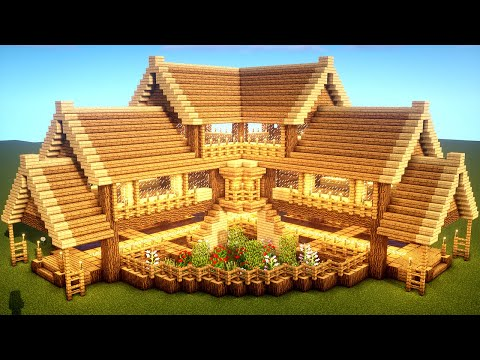 easy-minecraft:-large-oak-house-tutorial---how-to-build-a-survival-house-in-minecraft-#33