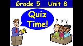 Quiz Time G5 Unit 8 Grammar Goals Future Tense Audio