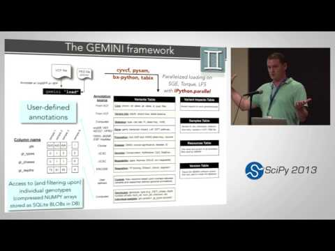 Exploring disease genetics from thousands of individual genomes with Gemini; SciPy 2013 Presentation