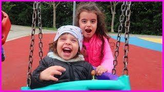 Yankı ile Çocuk Parkta Oynadık, Salıncakta Sallandık, Scooter ile Parkta Gezdik l Çocuk Videosu