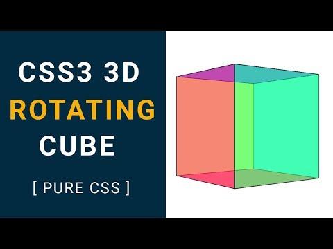 CSS3 3d rotating cube animation | css animation keyframes | css animation tutorial
