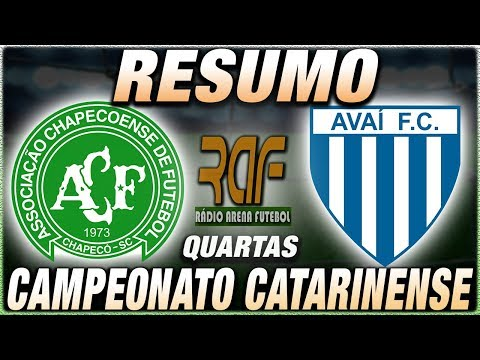 Chapecoense x Avaí Ao Vivo - Quartas de Final - Campeonato Catarinense - Narração