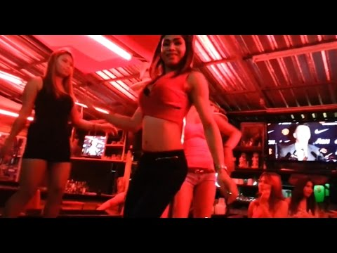 When bargirls get really drunk and having fun….Pattaya nightlife  HD