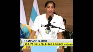 Candace Parker is proud to bring her hometown a WNBA championship 🤩🏀🏆 | #shorts
