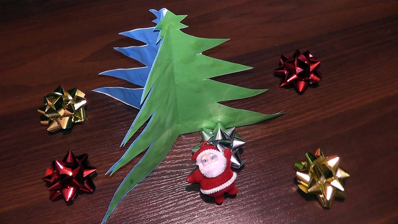 How To Make A Christmas Tree ☃ Out Of Paper (for Beginners