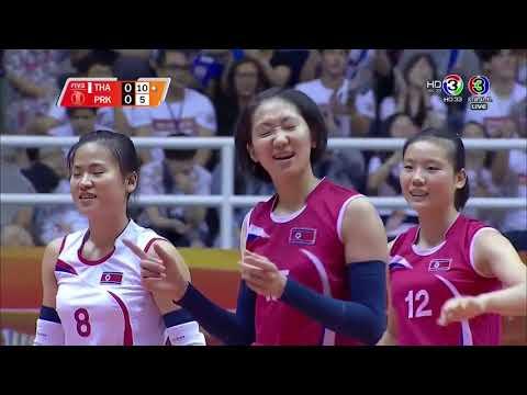 Thailand vs North Korea   2018 Volleyball Women's World Championship
