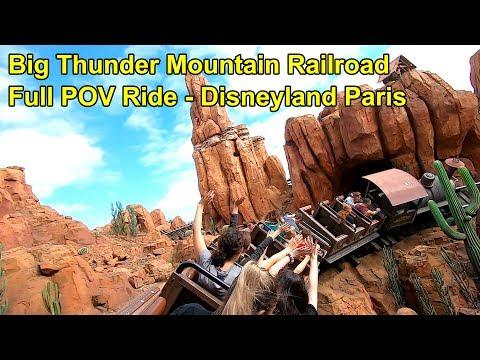 Big Thunder Mountain Railroad Roller Coaster Full POV Ride At Disneyland Paris 2019