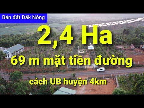 Đất đầu tư 2,4 ha giá 3 tỷ.cách QL14 3km, thị trấn 4km. xã Nâm N'jang, h/Đăk Song.