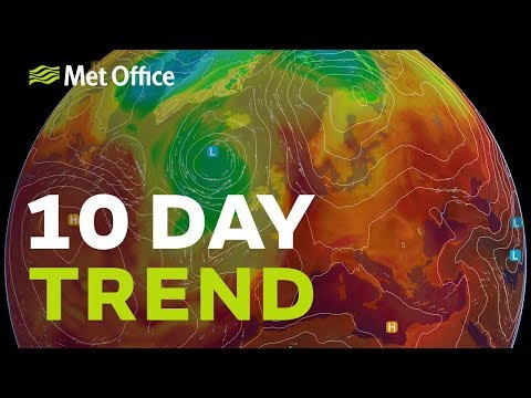 10 Day Trend - Exceptional heat and thunderstorms for some 25/07/18