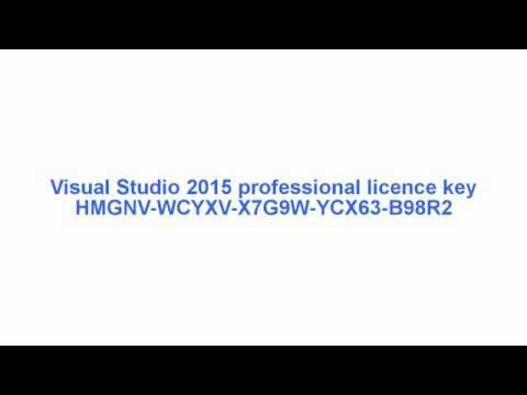 Product Key (licence key) for visual studio professional 2015