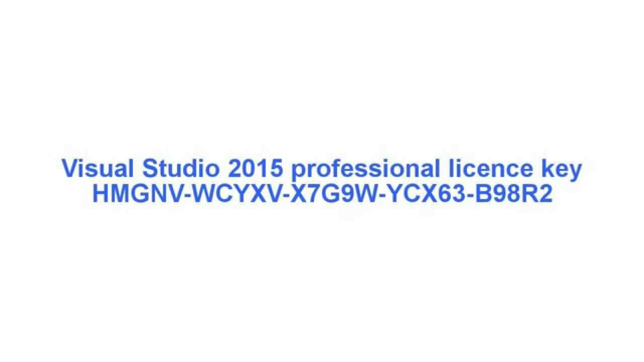 visual studio 2013 registration key