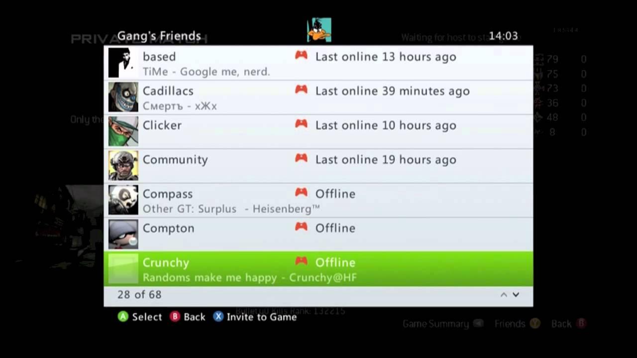 Online gamertags