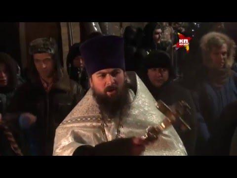 Russisch Orthodoxes Eisbaden in Moskau. 2016 Mit Wladimir Schirinowski.