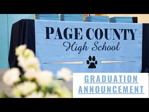 Page County High School Graduation Announcement