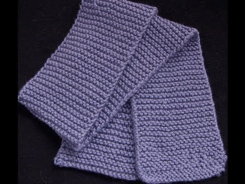 Knitted Stockinette Stitch Scarf Pattern : Knit a Garter Stitch Scarf - YouTube