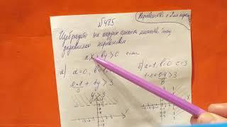 485 Алгебра 9 класс. Неравенства с двумя переменными