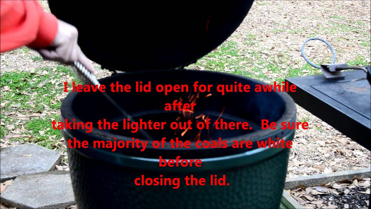 Cleaning out and lighting the Big Green Egg & Cleaning out and lighting the Big Green Egg - YouTube azcodes.com
