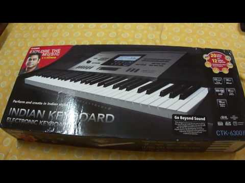 CASIO CTK 6300IN INDIAN KEYBOARD UNBOXING