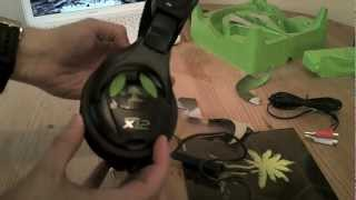turtle beach x12 unboxing and quick guide xbox 360
