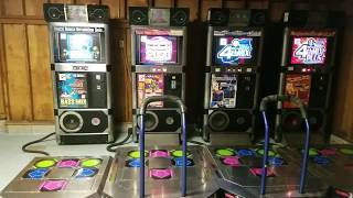 Dance Dance Revolution Solo - ALL 4 MIXES SIDE BY SIDE (World Record)