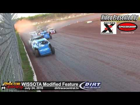 Proctor Speedway 7/24/16 WISSOTA Modified final laps