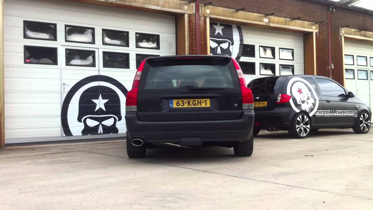 Guerrilla Performance Exhaust on Volvo V70R with over 350HP