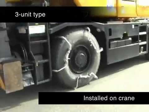 New concept in tire chains for cranes and heavy equipment — licensing now available