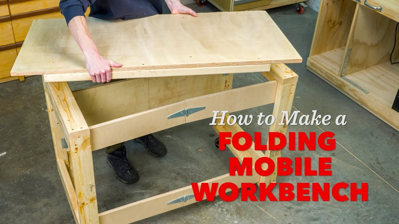 How To Make A Folding Mobile Workbench