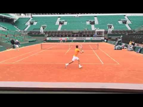 Novak Djokovic Practice 2014 French Open
